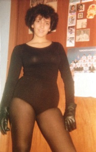 1978 (age 14)  Be nice people - body suits and fuzzy hair were big in the 70s!
